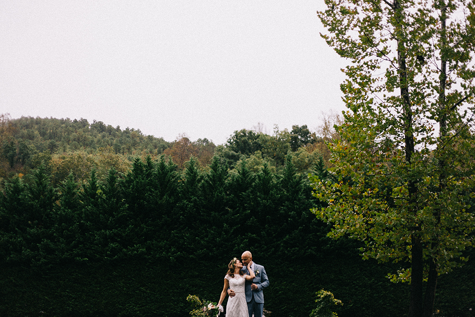 Matt & Julie's destination wedding at Round Knob Lodge in Old Fort, North Carolina. Photographed by elopement photographers, we are the hoffmans.