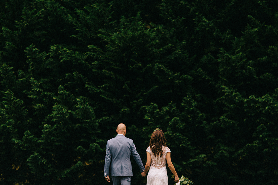 Wedding photographers, Zach & Jenny Hoffman, photograph intimate weddings in mountains.