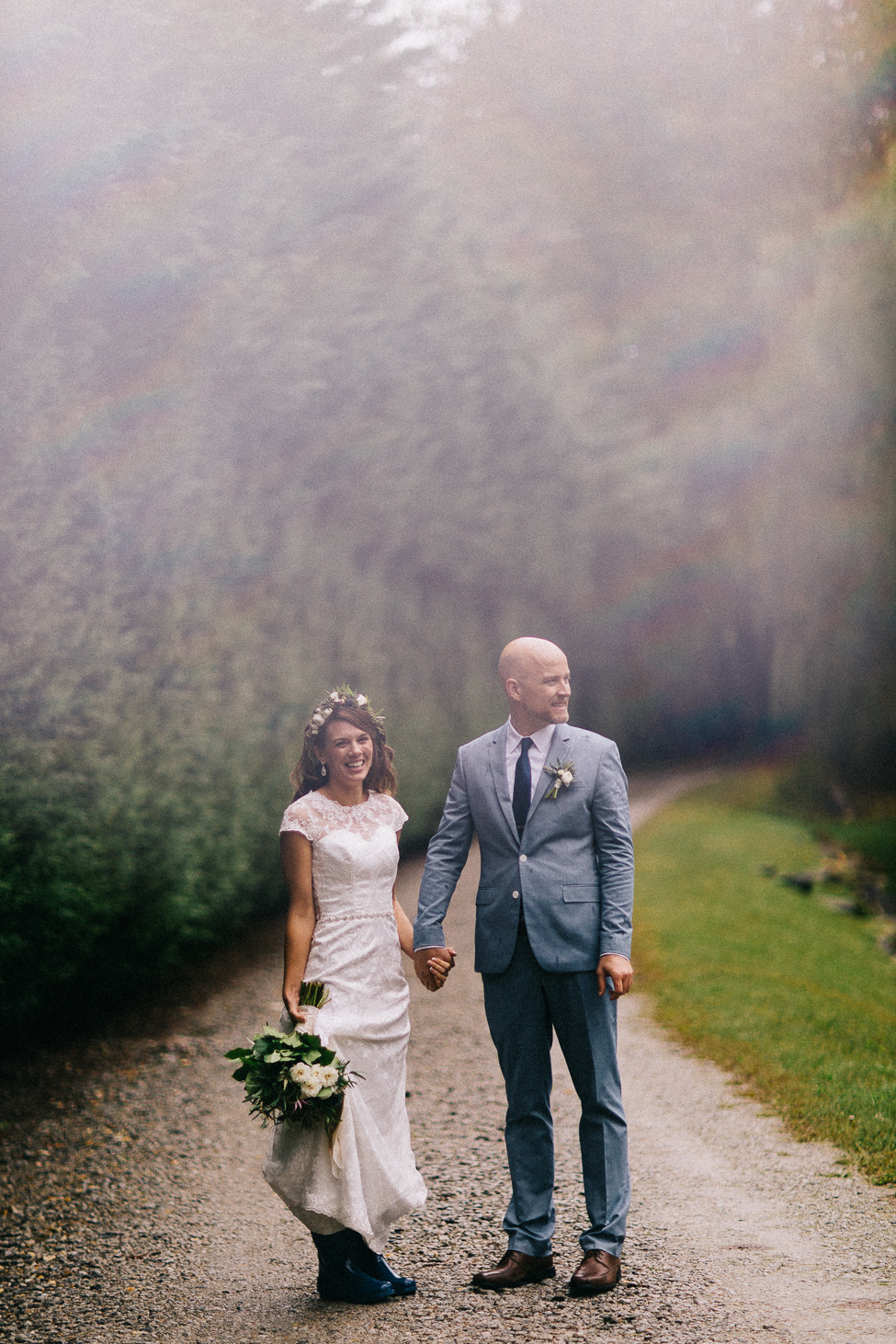 An adventurous couple gets married in Asheville, North Carolina.