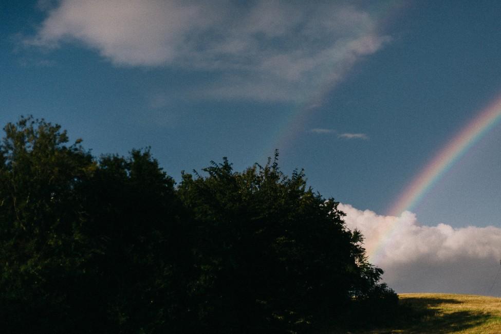 A double rainbow in Denmark.