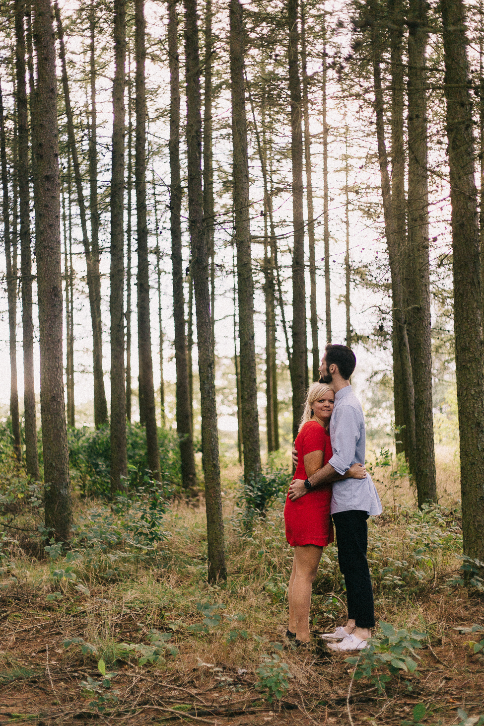 Prewedding adventure in rural Aarhus, Denmark, by intimate elopement photographers, we are the hoffmans.