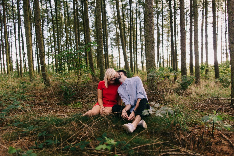 Lovers explore the wilderness of Denmark, moments before their intimate European wedding.