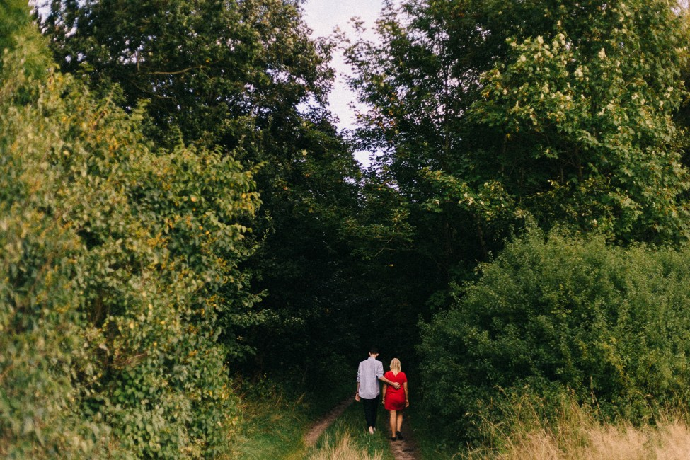 Artistic elopement photographs for a British couple in coastal Denmark.