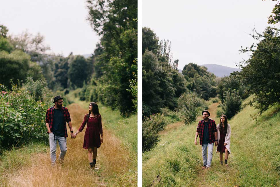 Adventuring along the Danube in this Vienna, Austria engagement photography couple session.