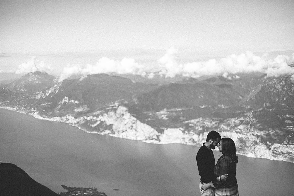 Stunning wedding photography on Monte Baldo in Malcesine, Italy.