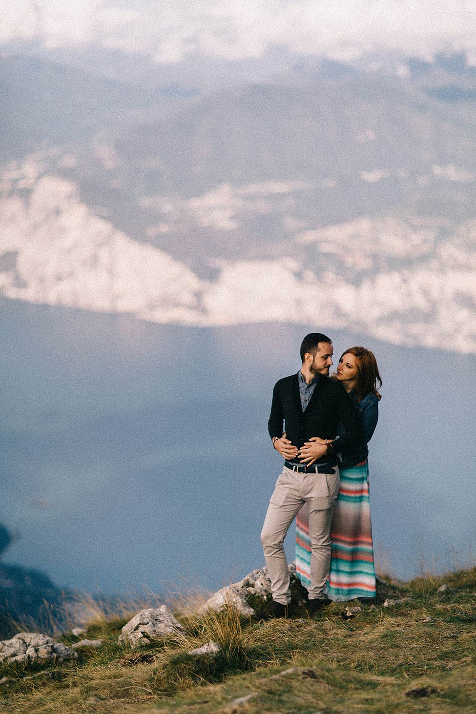 Mountain side elopement in Italy.