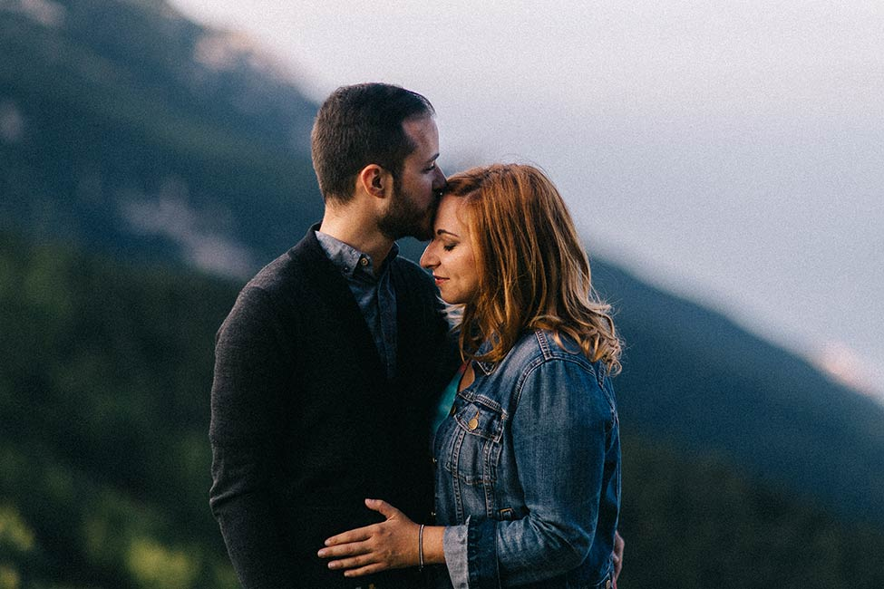 Beautiful couple elopes in Malcesine, Italy wedding photographer.