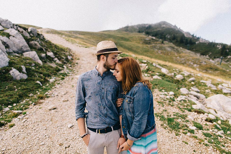 Italian couple poses for destination adventure wedding photographs by we are the hoffmans.
