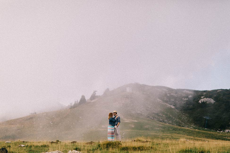 Destination elopement photography in the mountains.