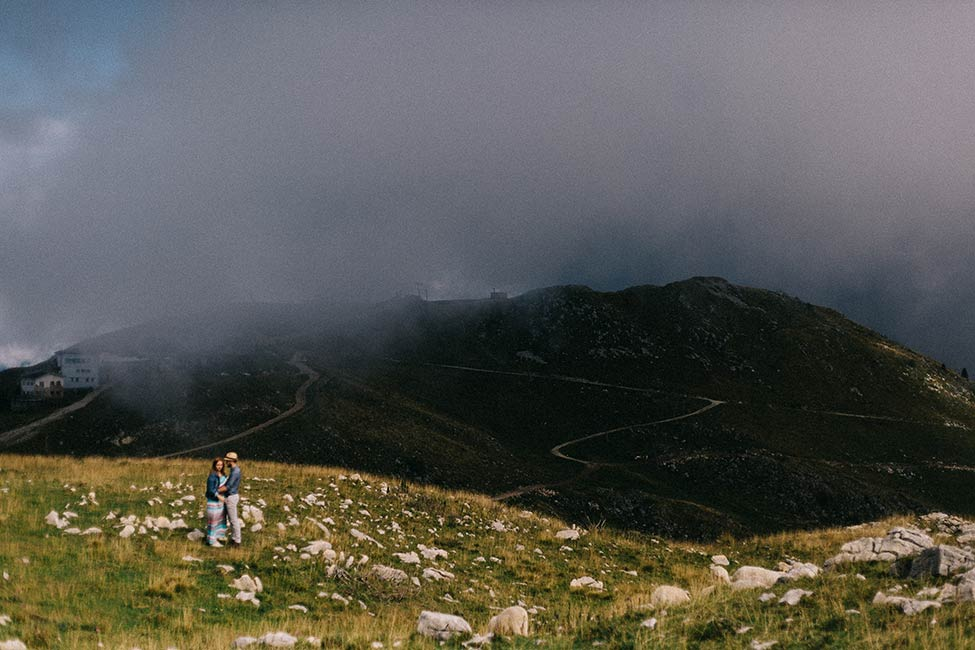 Epic wedding location atop monte baldo, in malcesine, italy.